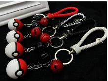 Black Red Bells Keychain Toys Pokemon Go Bell Ring Keychain Pikachu Toys Action & Toy Figures Pokemon Gift