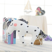 Baby Unicorn Stuffed Toys Kawaii Horse, Fox, Rabbit, Bear Pillow Cute Soft Animal Shaped Doll Baby Kids Bedroom Decoration Gift
