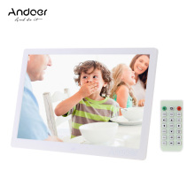 "Andoer 15.6"" LED Digital Photo Frame 1280*800 Advertising Machine Calender Alarm Clock MP3 MP4 Movie Player with Remote Control"
