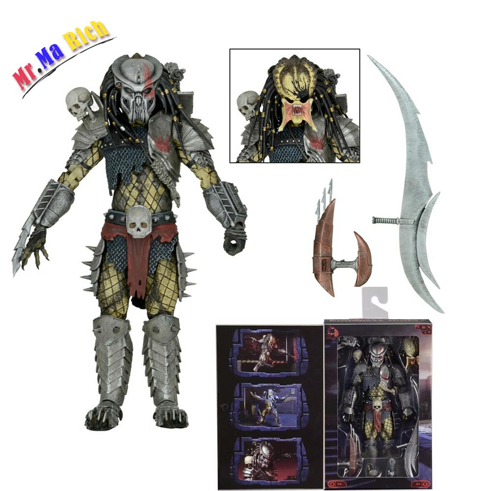 Neca Film Avp Aliens Vs Predator Serie Giungla Di Cemento Pvc Action Figure Da Collezione Model Toy Doll Regalo 18 cm<br>