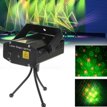 AC110 220V 4 in 1 Mini Led Stage light Red&Green laser light projector Lazer Stage party entertainment disco fairy lighting(China)