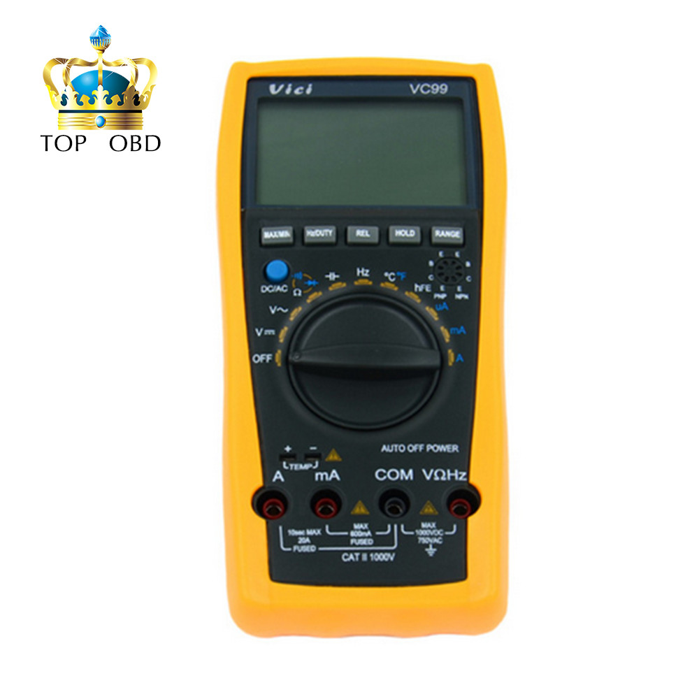 Vichy VC99 3 6/7 Auto range digital multimeter with bag better FLUKE 17B a pair crocodiles REGISTER shipping<br>