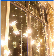 870LEDs 10M*2M Curtain String Lights Garden Lamps New Year Christmas Icicle LED Lights Xmas Wedding Party Decorations(China)