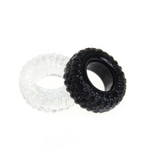Buy 2Pcs Soft Silicone Tire Penis Rings Delay Ejaculation Cock Ring Penis Enhancer Sleeve Sex Toys Man Couple