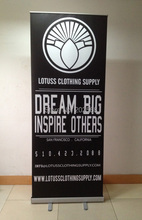 Freeshipping Aluminum roll up banner,Retractable banner stand(China)