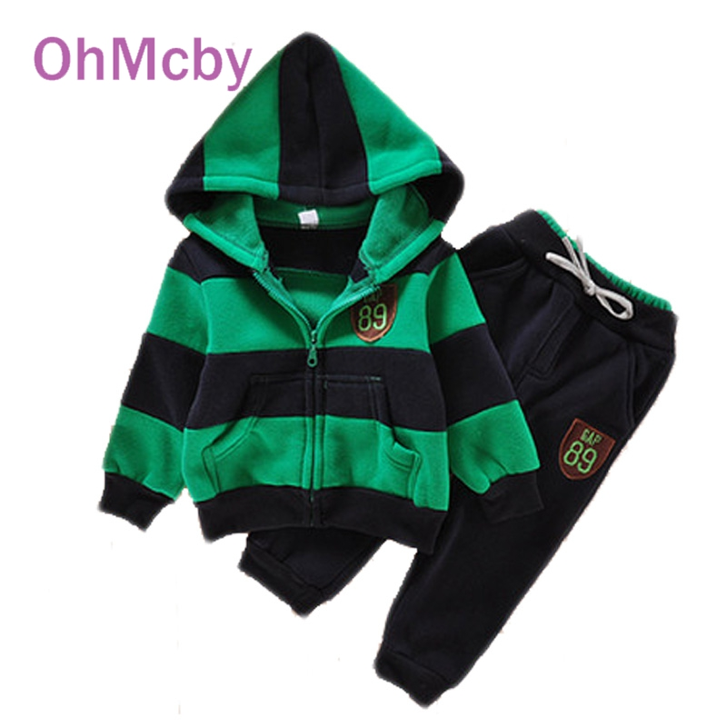 Children Hoodies Winter Wool Sherpa Baby Boys Sports Suit Jacket Sweater Coat and Pants SetsThicken Kids Girls Clothes Sets<br><br>Aliexpress