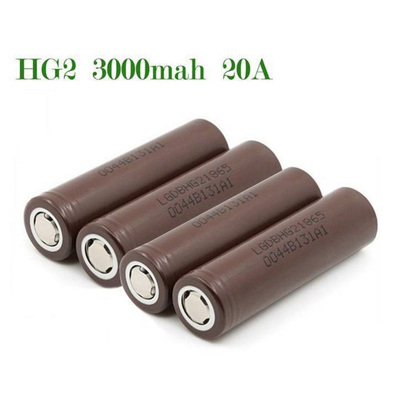 For LG 18650 HG2 3000mAh Rechargeable High Drain Li-ion Battery Flat Top Vape