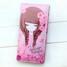 Fashion Lady Purses Clutch Coin Purses Cute Girls Pattern Woman Wallets Cards Holder Students Money Bags Burse Carteira Feminina