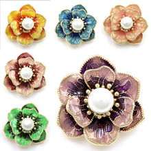 Factory Direct Sale Bright Color Enamel Flower Brooch For Women In Assorted Color Free DHL/EMS Delivery Order 100+
