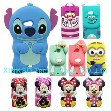 Case For Microsoft Nokia Lumia 535 3D Cartoon Rabbit Minnie Mickey Mouse Stitch Minion Soft Silicone Phone Back Cover Cases