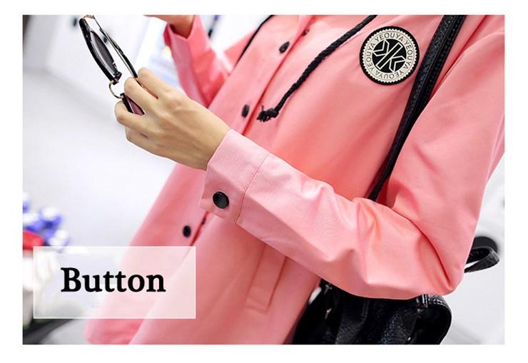 Jackets Women 2019 New Winter Fall Women\`s Basic Jacket Letter Print Coats Outwear Windbreaker Jacket Hooded Chaquetas Mujer (18)