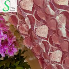 [Slow Soul] Relief Flower Wedding Room Bedroom Living Window Curtain Yarn Floral Embroidered Pastoral Curtains Tulle Luxury(China)