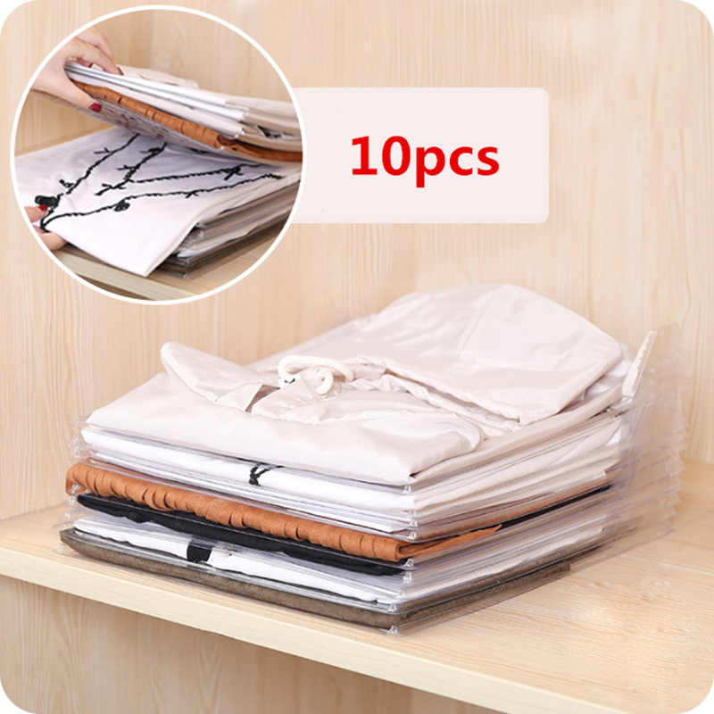Detail Feedback Questions About 10pcs/lot Automatic Folding Clothes Board  Shirt Folder Shirt Closet Organizer Drawer Office Desk File Storage Rack  Home ...