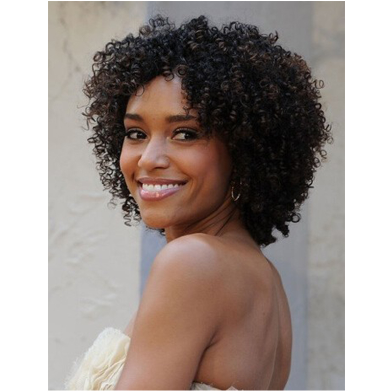 Salomon Cute Short Kinky Curly Synthetic Hair Wigs 14 Inches Wigs For Black Women<br><br>Aliexpress
