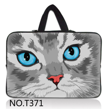 Cute Cat Face 7 10 12 13 14 15 17.3 inch Laptop Sleeve Waterproof Sleeve Pouch Bag Tablet Case Cover For Dell HP ASUS 15.6 13.3