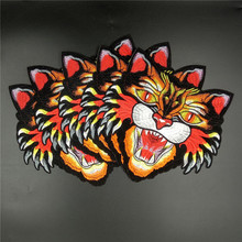 5PCS/LOT Large Quality Embroidery iron on patch Bee,Snake,Tiger Head Embroidered patch with Glue for clothing wholesale price(China)