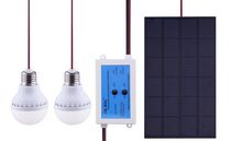 Po Chu small solar lighting system solar charging system for mobile phone camera LED lights
