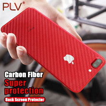 PLV Carbon Fiber 3D Soft Film For iPhone X 6 6 Plus Film Clear Scratch-protection Back Film For iPhone 7 7 8 Plus(China)