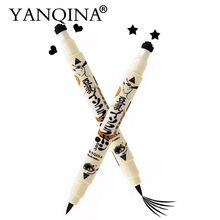 YANQINA Eyeliner 2 Sides Trendy Black Waterproof Liquid Pencil Maquillaje Star Heart Stamp Stamper Dot Stamping Tattoo 131-0276(China)