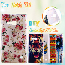 Painted Soft TPU Silicone Phone Cases For Nokia Lumia 730 N730 735 4.7 inch Cases Houisng Covers Shell Skin Gel Phone Bags
