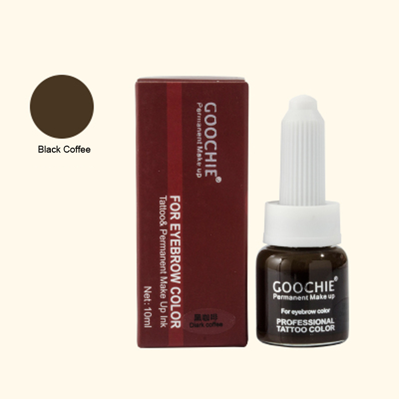 Permanent Makeup eyebrow Pigment For Tattoo eyebrow microblding pigment Inks makeup products Black Coffee Color microblading ink<br>