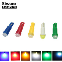 20pcs T5  1 led /1smd DC12V Ceramic  Dashboard Gauge Instrument Ceramic Car Auto Side Wedge Light Lamp Bulb