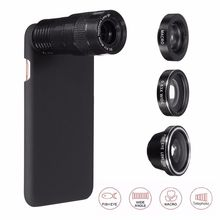 Buy ZEALLION 9X Zoom 4 1 Telephoto Wide Angle Macro Fisheye 180 Degree Phone Camera Lens iPhone 5 5S 6 Plus Case Cover for $11.34 in AliExpress store