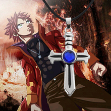 2017 Hot Products Surrounding Animation Fairy Tail Cross Inlaid Necklace Anime Necklace Personalized Necklace Wholesale