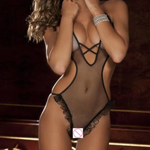 Black Summer spring sexy lingerie erotic  Breathable mesh teddy lingerie sexy lace sexy underwear