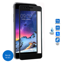 For LG K8 K350N 2017 3D Curved Full cover Glass Film full Cover Tempered Glass Film for LG K8 2017 Screen Protector Cover Guard