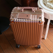 Letrend Fashion 20 24 26 Inch Trolley Luggage,High-quality Aluminium Frame+ABS Luggage Marco Aluminio 29 Suitcases Travel Bag