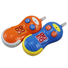 Baby Electronic Musical Phone Toy Kid Intelligence Development Light and Music Early Educational Cell Phone Toys(China)