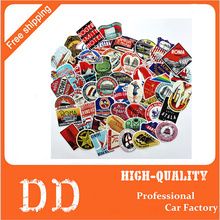 55pcs mixed Retro Style travel hotel logo Roma Paris Los Japan Chicago Hawaii baghdad trip car sticker waterproof Doodle decal