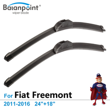 "Wiper Blades for Fiat Freemont 2011-2016 24""+18"", Set of 2, Best Car Accessories"