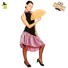 Adult's Dancer Flamenco Costume Dancing Ladies Fancy Dress Costumes For Party