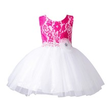 Princess Wedding Party Pageant Fancy Tutu Dress Summer Fashion Baby Girls Dresses Flower Girl Baby Toddler Clothes