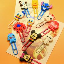 Kawaii Cartoon Characters Paper Clip Bookmark Promotional Toy Finger Action School Office Supply As Gift For Kids(China)