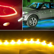 Car LED decorative light Red/Blue/Yellow Flexible LED Strip lights Ribbon Waterproof for Car Styling Decorative Fine Lamps