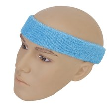 1x Headband and 2x Elastic Wrist band for Sports - Light blue