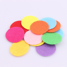 100 PCS DIY 20/25/30mm  Mix Color Round Felt fabric Pads Accessory Patches Circle Felt Pads  Fabric Flower Accessories