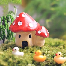 Hot Sale Microlandschaft DollHouse DIY Miniature Potting Decor Office House Graden Mushroom House Potted Plant Accessories