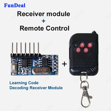 433Mhz RF Receiver Learning Code Decoder Module Wireless 4 CH Channel output With Learning Button and 433 Mhz Remote Control Kit(China)