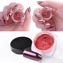 1pcs Rose Gold Powder Nail Art Glitter Chrome Pigment Nail Powder Dust Manicure Nails Decorations Makeup Tools Accessories(China)