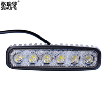 GERUITE Brand 2pcs 18W LED Work Lighting Off Road Spot Light Lamp Fog Bar 4x4 SUV Car Truck Trailer Tractor ATV UTV Vehicle(China)