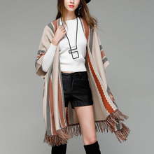 Autumn Free Size Fashion Women Long Cardigans Shawl Sweaters Tassel Knitted Cape Coat Open Stitch Short Batwing Sleeve Sweaters