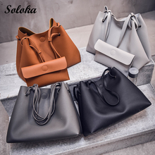 1set Women Handbags Pu Leather Composite Bags Shoulder Bag Designer Bags Handbags Women Famous Brands Set Tote+HandBag