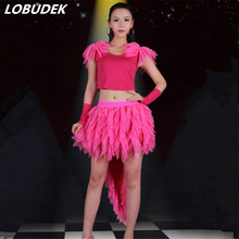 New Prom Female Teams Cheering Squad Stage Costumes Nightclub Bar Lead Dance Singer Jazz DJ DS Performance Clothing Party Show(China)