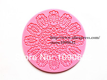 Free Shipping Fondant Cake Lace Silicone Mold Sugar Paste Cake Decoration Sugar Art Tools Round Sunflower