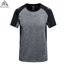PEILOW big size L~5XL,6XL Brand Tops & Tees Quick Dry Slim Fit High quality T-shirt Men sporting Clothing Short sleeve t shirts