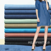 Buulqo Thin cotton denim fabric by half meter for DIY sewing high quality blue jeans denim fashion clothing fabric 50*145cm(China)